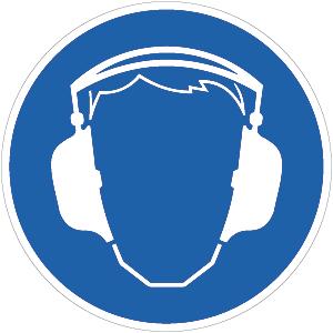 Gehörschutz benutzen BGV A8, Alu, Ø 31,5 cm
