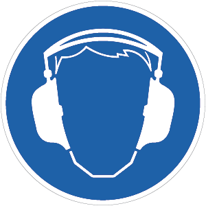 Gehörschutz benutzen BGV A8, Kunststoff, Ø 40 cm