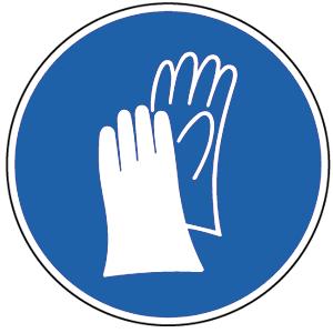 Handschutz benutzen BGV A8, Folie, Ø 10 cm