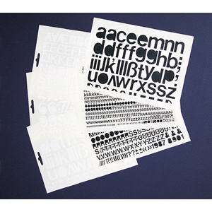 Großbuchstaben weiß, Folie, 2 cm, 1 Bogen