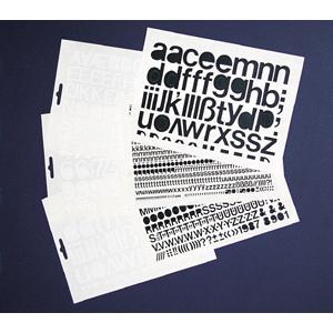 Großbuchstaben weiß, Folie, 3 cm, 1 Bogen