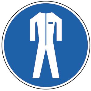 Schutzkleidung benutzen BGV A8, Kunststoff, Ø 20 cm
