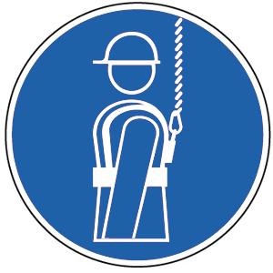 Auffanggurt anlegen BGV A8, Alu, Ø 31,5 cm