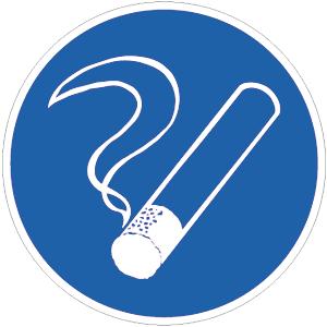 Rauchen gestattet, Folie, Ø 20 cm