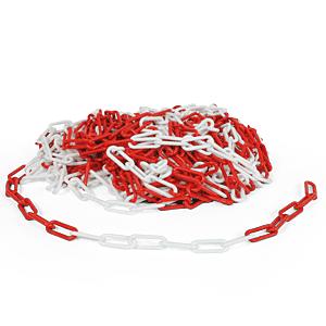 Kunststoffkette rot/weiß, 8 mm, Polyethylen, Meterware