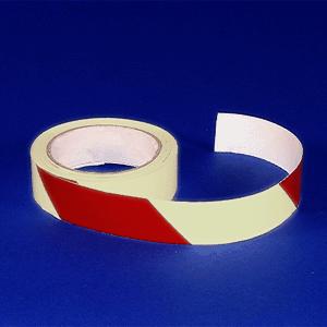 Warnmarkierung rot linksweisend, Folie, nachleucht., Rolle, 10x1600 cm