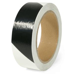 Warnmarkierung langnachleuchtend/schwarz,160-mcd,rechtsweisend,Folie,3x1600 cm