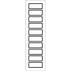 Blanko-Etiketten, Aluminiumfolie, 2x5 cm