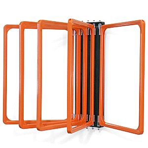 Klapprahmen mit 5 Fächern DIN A4 orange, Kunststoff, 29,7x21 cm