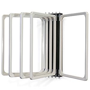 Klapprahmen mit 5 Fächern DIN A4 weiß, Kunststoff, 29,7x21 cm