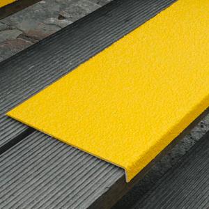 Antirutschkantenprofil GFK Medium, Kunststoff, gelb, 60 cm Länge