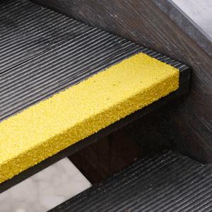 Antirutschtreppenkantenprofil GFK Medium, Kunststoff, gelb, 80 cm Länge