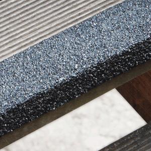 Antirutschtreppenkantenprofil GFK Extra Stark, schwarz, 100 cm Länge