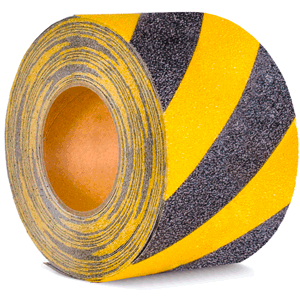 Antirutschbelag, Typ Verformbar, gelb/schwarz, 15x1830 cm