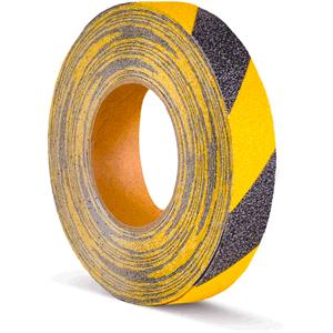 Antirutschbelag, Typ Verformbar, gelb/schwarz, 2,5x1830 cm