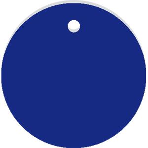 Werkzeugmarken ohne Gravur, Alu, eloxiert, Blau, Ø 2 cm