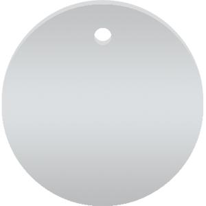 Werkzeugmarken ohne Gravur, Alu, eloxiert, Silber, Ø 2 cm