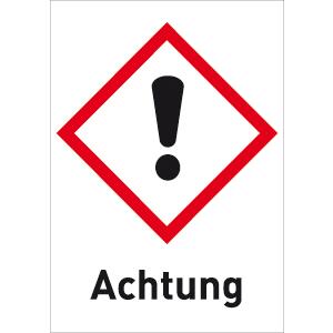 Reizend (GHS 07) Achtung, Folie, 5,2x3,7 cm, 6 Stück am Bogen
