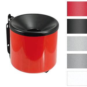 Sicherheits-Wandascher, Stahlblech, Rot, Ø 15 cm
