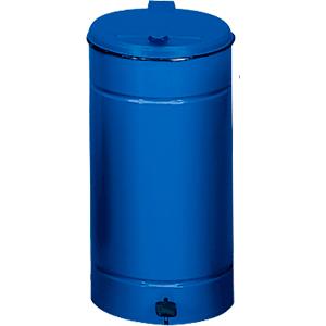 Tretabfallsammler, Blau, Stahlblech, Ø 45 cm, 70 cm Höhe
