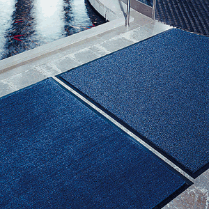 Schmutzfangmatte Olefin, 91x150 cm, blau