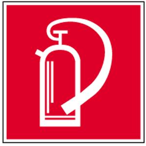 Feuerlöscher, Kunststoff, 20x20 cm