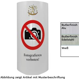 Aufsteller - Druck nach Datei, Aluverbund, Butlerfinish, Edelstahl, 60x48 cm