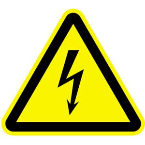 Warnung vor elektrischer Spannung ISO 7010, Kunststoff, 10 cm SL