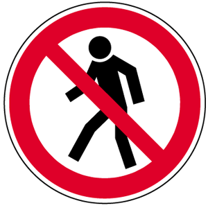 Für Fußgänger verboten BGV A8, Alu, Ø 31,5 cm