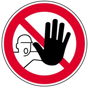 Zutritt für Unbefugte verboten DIN 4844-2, Folie, Ø 31,5 cm