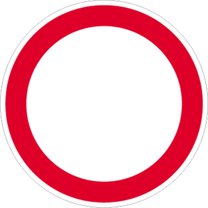 Allgemeines Verbot, Alu, Ø 60 cm