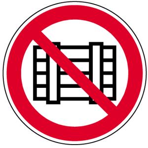 Abstellen oder Lagern verboten BGV A8, Alu, Ø 31,5 cm