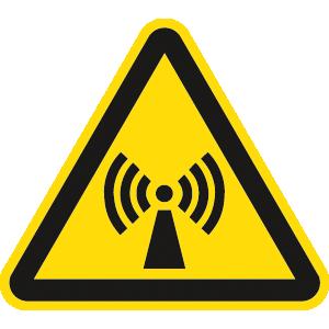 Warnung vor nicht ionisierender Strahlung ISO 7010, Folie, 20 cm SL