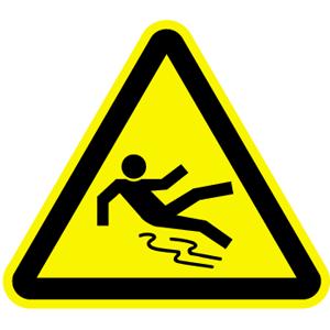 Warnung vor Rutschgefahr BGV A8, Kunststoff, 40 cm SL