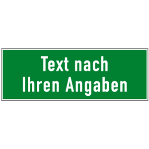 Rettungszeichen - Text nach Angabe, Kunststoff, 10,5x29,7 cm