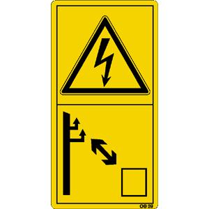 Ausreichenden Abstand zu elektrischen ..., 16,8x8,8 cm