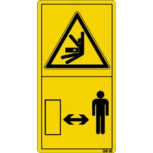 Ausreichend Sicherheitsabstand zum ... ISO 11684, Folie, 6,8x3,5 cm