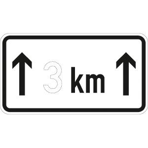 VZ1001-31, auf ... km, Alu, RA1, 33x60 cm