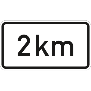 VZ1004-31, Entfernungsangabe in ... km, Alu, RA2, 33x60 cm