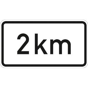 VZ1004-31, Entfernungsangabe in ... km, Alu, RA2, 41,2x75 cm