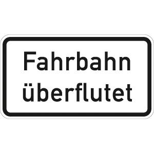 VZ2014, Fahrbahn überflutet, Alu, RA2, 23,1x42 cm