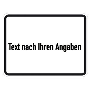 VZ-Zusatzzeichen mit Beschriftung, Alu, RA2, 45x60 cm