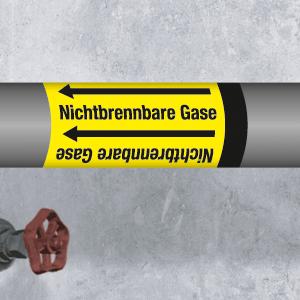 Band f. Rohre <50 mm Ø,Folie,Gr.5 Nichtb.Gase,Durchflussst. n. Angabe,10x3300cm