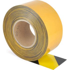 Universelles Bodenmarkierungsband WT-5125, PVC, Gelb/Schwarz, 7,5x2500 cm