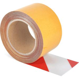Universelles Bodenmarkierungsband WT-5125, PVC, Rot/Weiß, 7,5x1000 cm