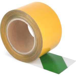 Universelles Bodenmarkierungsband WT-5125, PVC, Grün/Weiß, 7,5x1000 cm