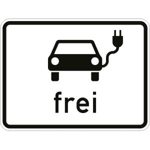 VZ1024-20, Elektrisch betriebene Fahrzeuge frei, Alu, RA2, 56,2x75 cm